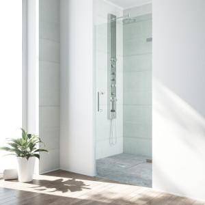 VIGO Soho Adjustable Frameless Shower Door