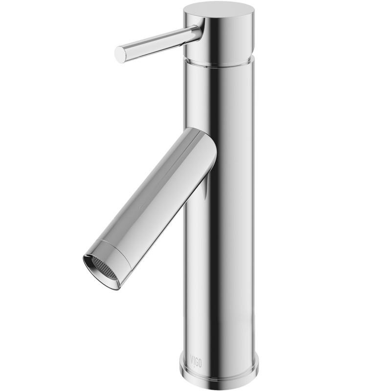 VIGO Alicia Single Hole Bathroom Faucet In Chrome - Bathroom Faucet ...