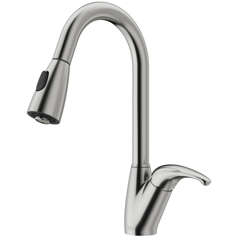 VIGO Romano Pull-Down Spray Kitchen Faucet In Stainless ...