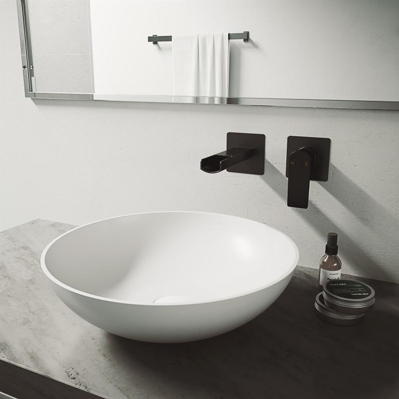 Vigo Lotus Matte Stone Vessel Bathroom Sink