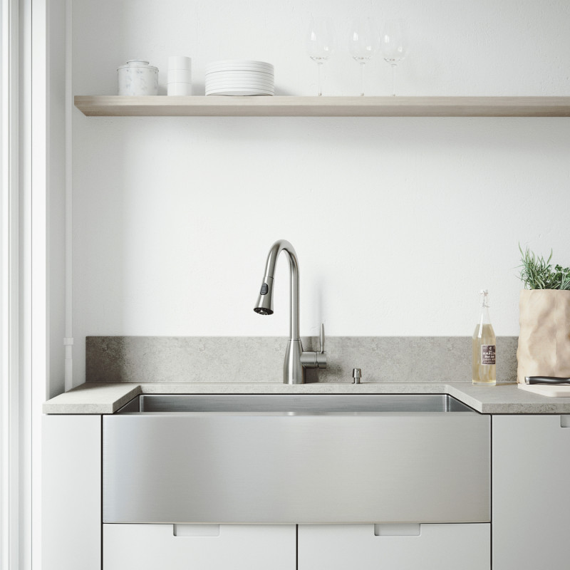 Vigo All In One 36 Bedford Stainless Steel Farmhouse Kitchen Sink