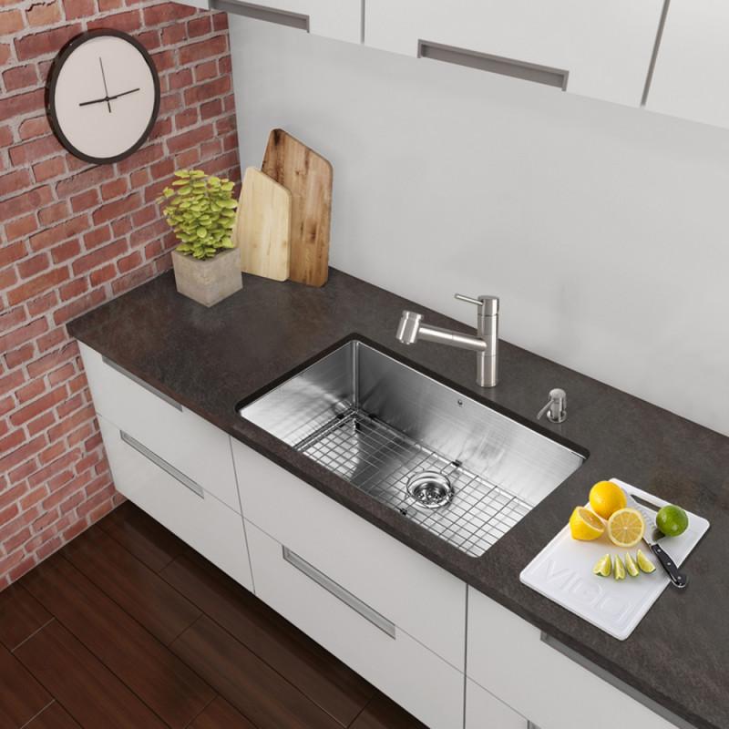 Vigo All In One 30 Inch Stainless Steel Undermount Kitchen