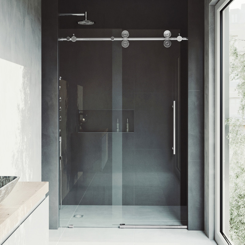 Vigo Elan Adjule Frameless Sliding Shower Door