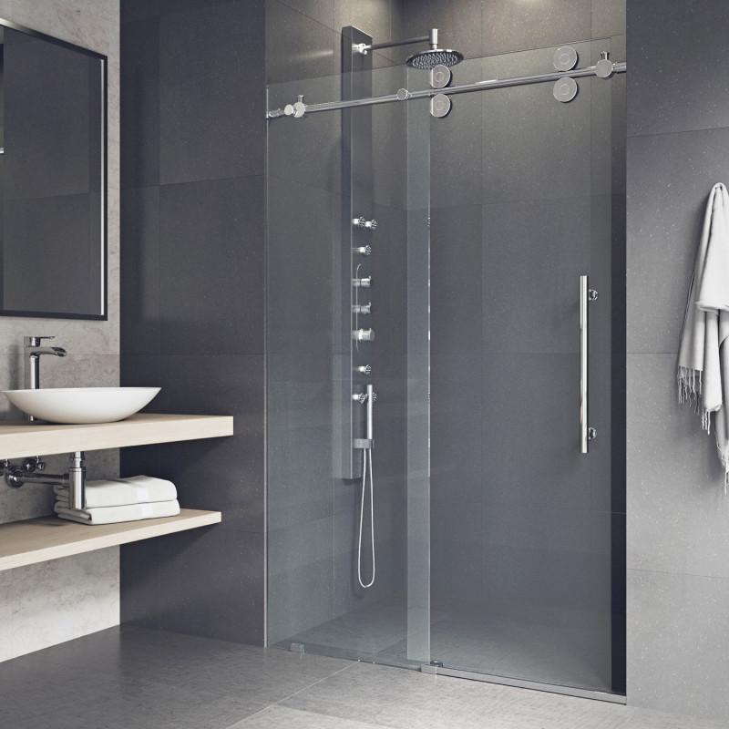 Vigo Elan Adjule Frameless Sliding Shower Door