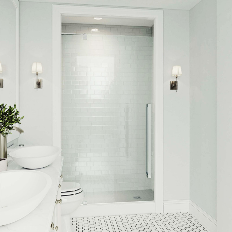 Vigo Cameo Adjule Frameless Pivot Shower Door Doors
