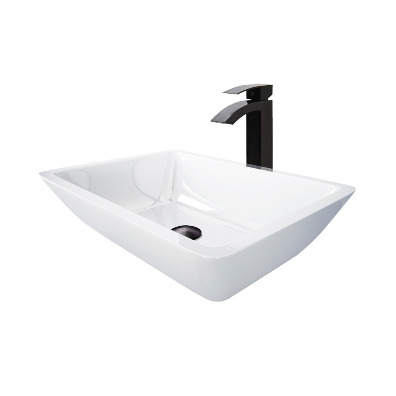 Vigo Adele Phoenix Stone Vessel Bathroom Sink Set With