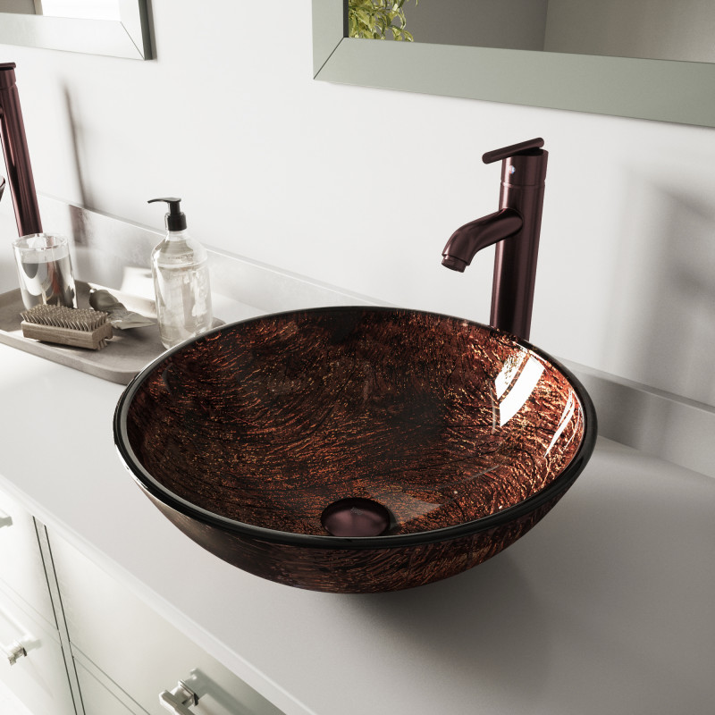amazing marble countertop sink design and modern faucet.htm vigo kenyan twilight glass vessel bathroom sink set with seville  glass vessel bathroom sink