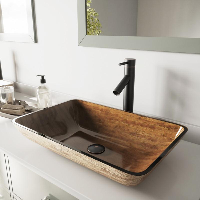 amazing marble countertop sink design and modern faucet.htm vigo 22  rectangular amber sunset glass vessel bathroom sink  amber sunset glass vessel bathroom sink