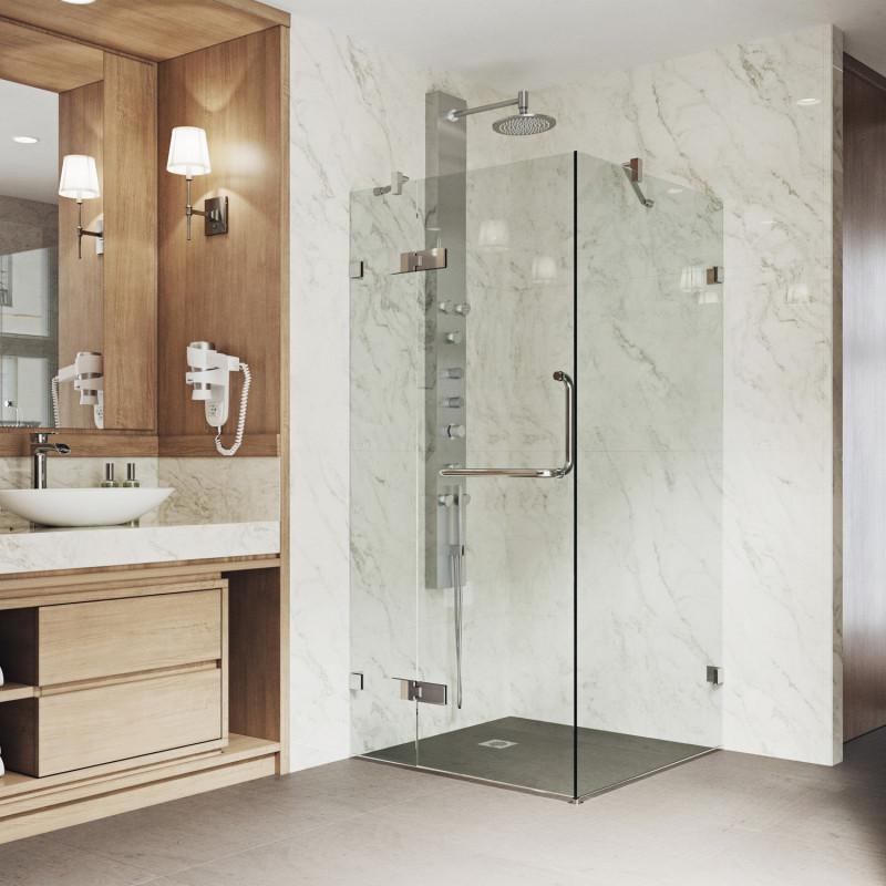 VIGO Monteray Frameless Shower Enclosure