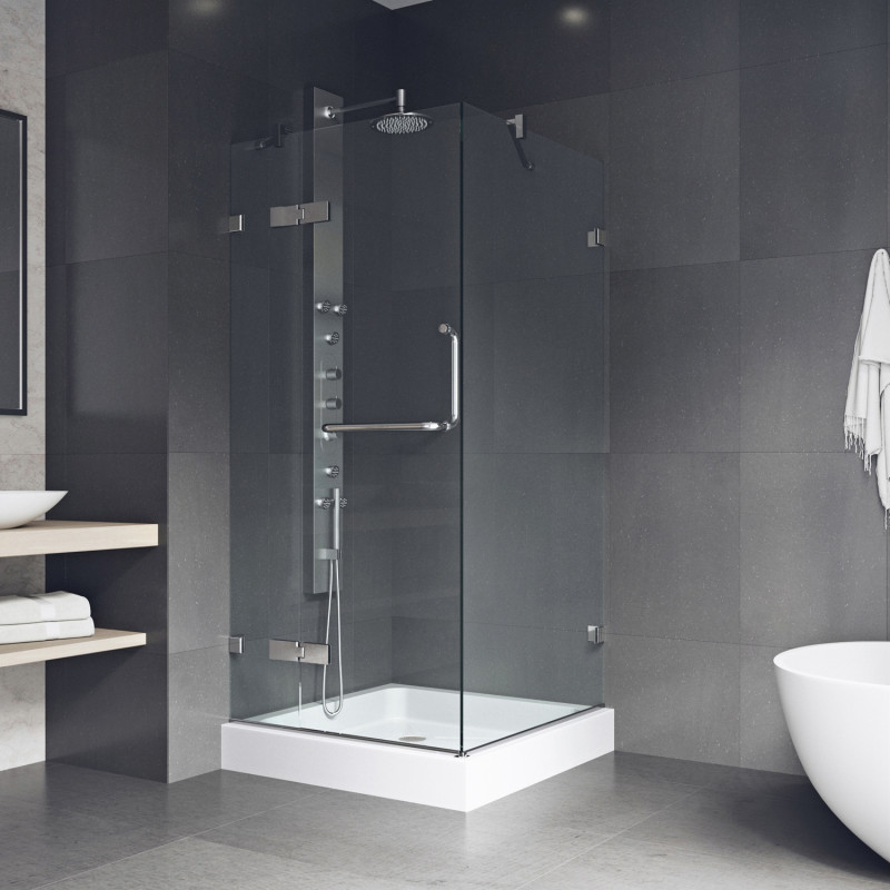 Vigo Monteray Frameless Shower Enclosure With Base