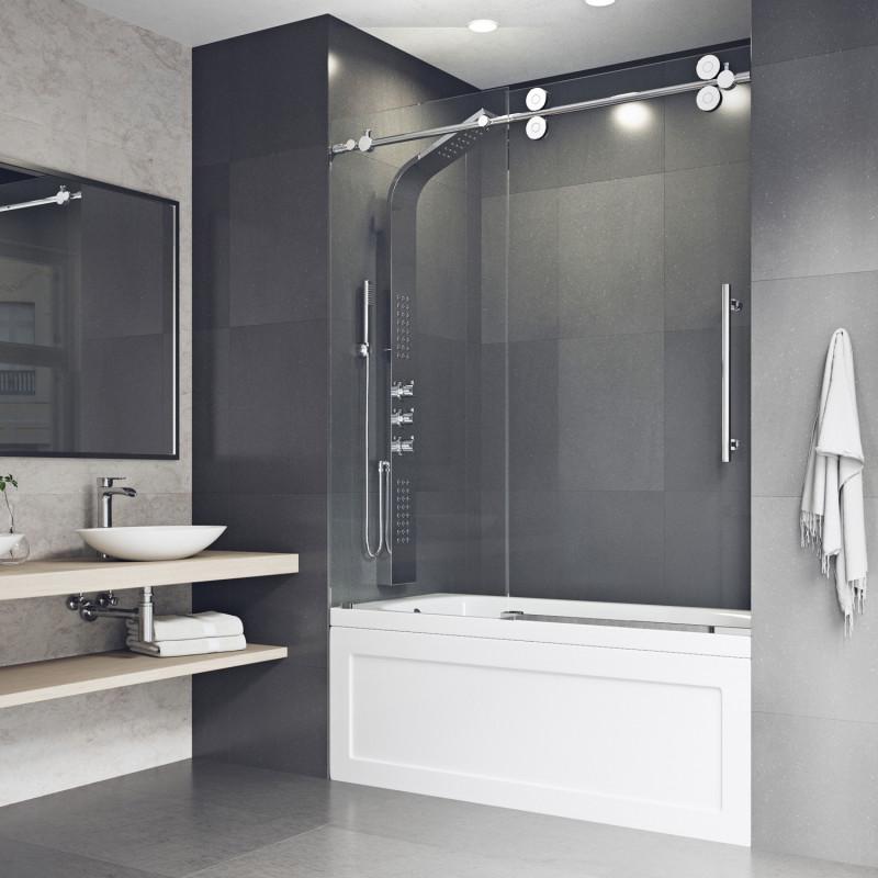 Vigo Elan Frameless Adjustable Sliding Tub Door Tub