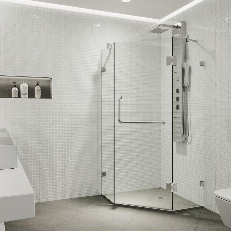 VIGO Piedmont Frameless Neo-Angle Shower Enclosure