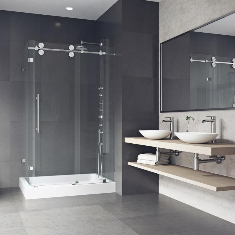 Vigo Winslow Frameless Sliding Door Shower Enclosure With