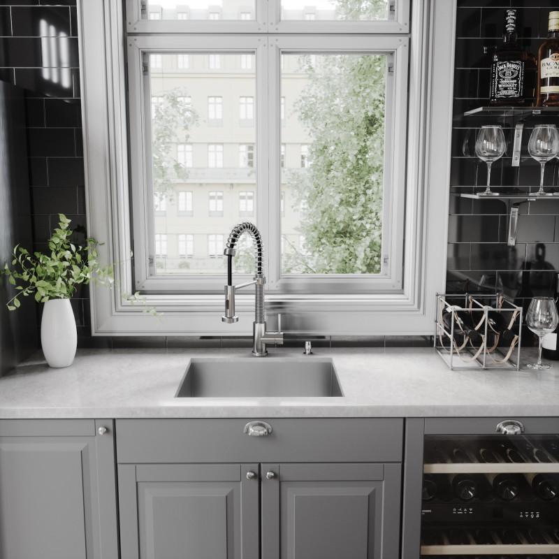 VIGO Edison Pull-Down Spray Kitchen Faucet - Kitchen Faucets - Kitchen