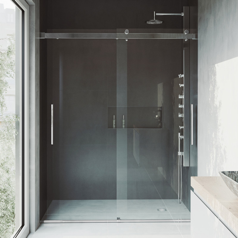 Vigo Caspian Adjustable Frameless Sliding Shower Door