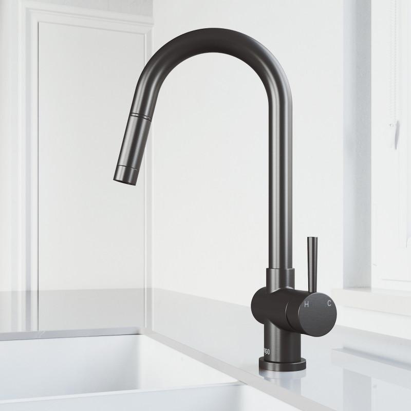 VIGO Gramercy Pull-Down Kitchen Faucet