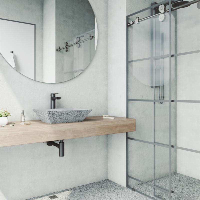 Vigo Calendula Cast Stone Vessel Bathroom Sink