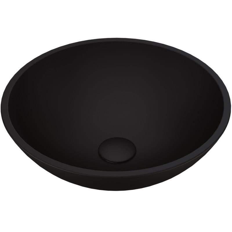 Vigo Black Cavalli Matteshell Vessel Bathroom Sink