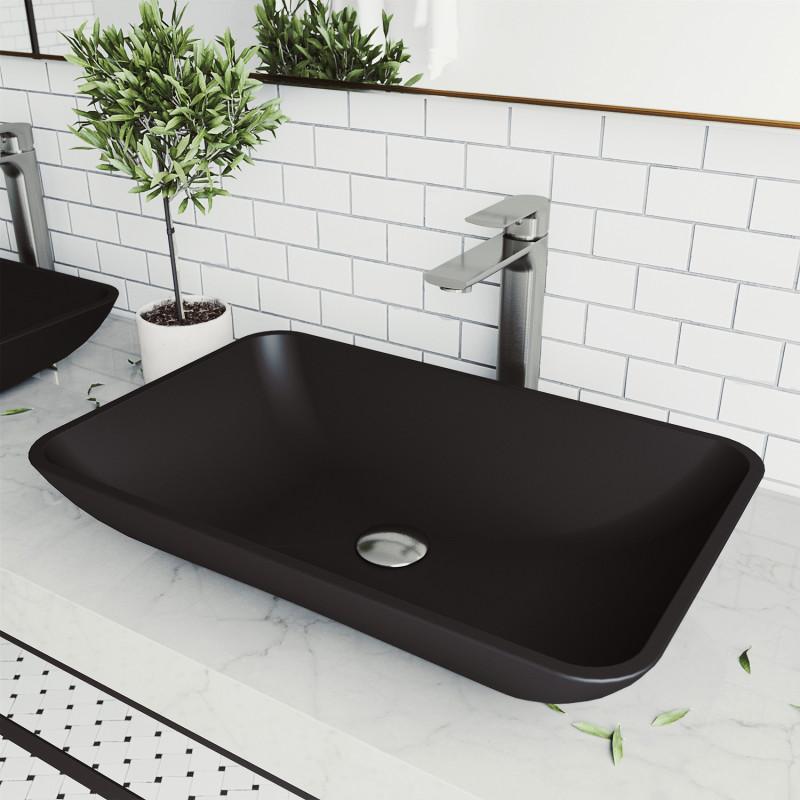 Vigo Black Hadyn Matteshell Vessel Bathroom Sink