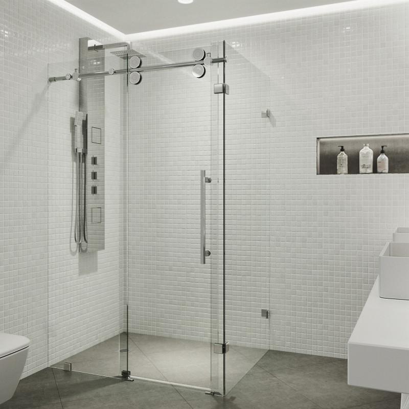 Vigo Winslow Frameless Sliding Door, Shower Stall With Sliding Glass Doors