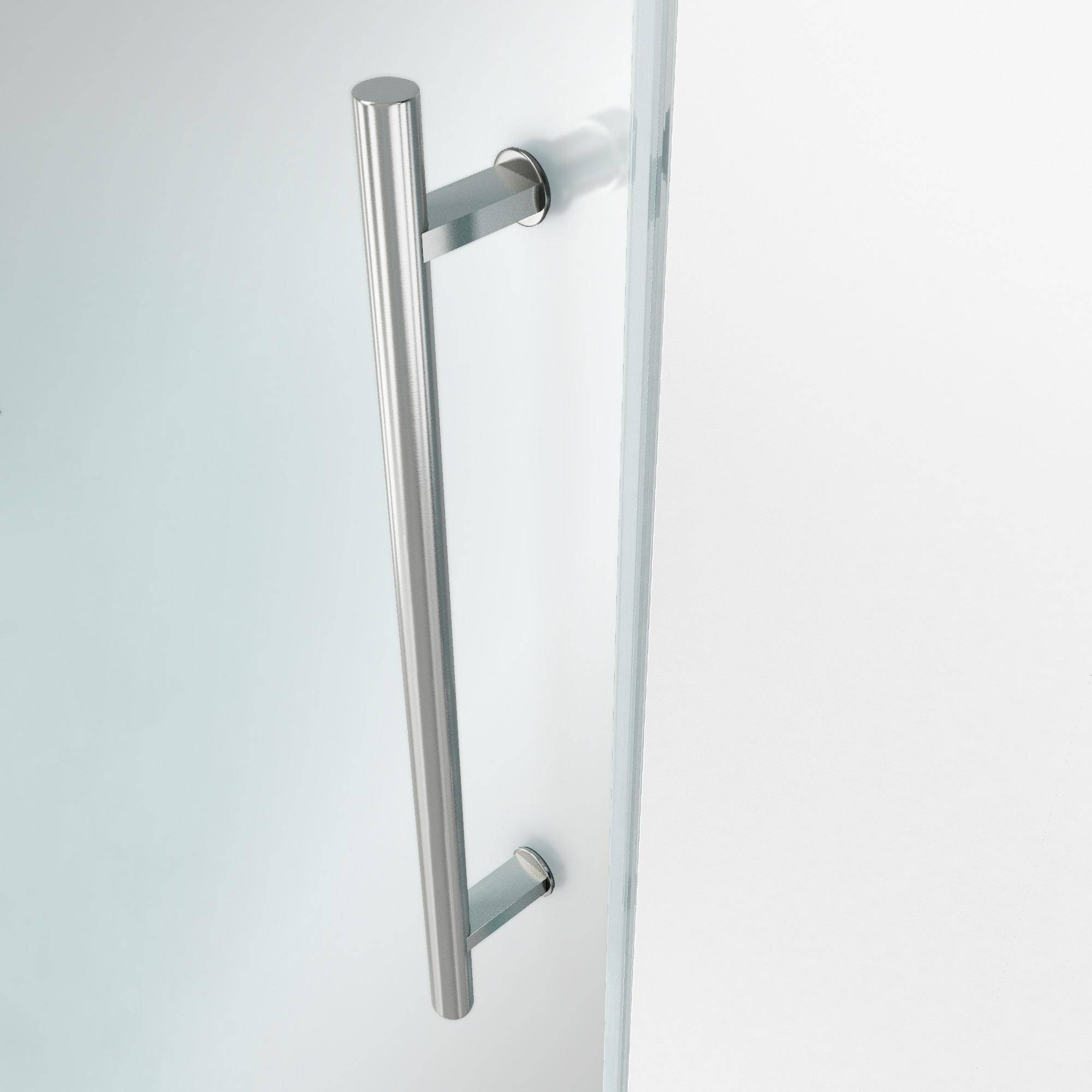 Temped Glass Details on the VIGO Elan Framless Glass Sliding Shower Door