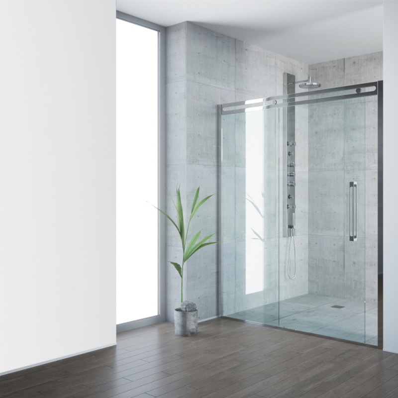 VIGO Erie Framed Glass Sliding Shower Door