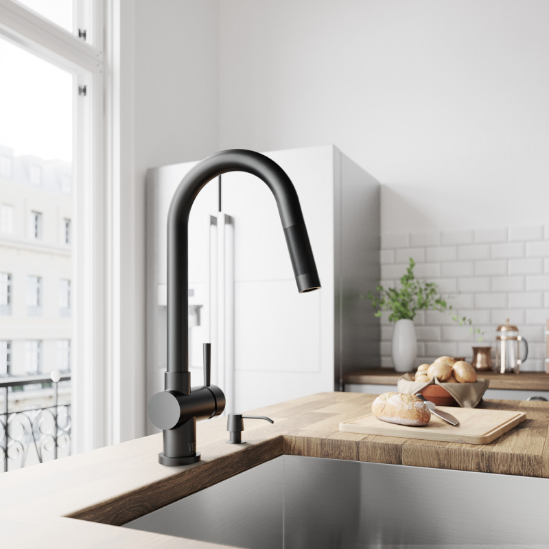 Easily refresh your kitchen with an easy to install VIGO kitchen faucet